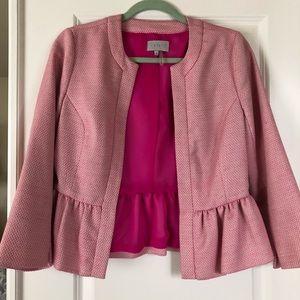 Pink peplum blazer